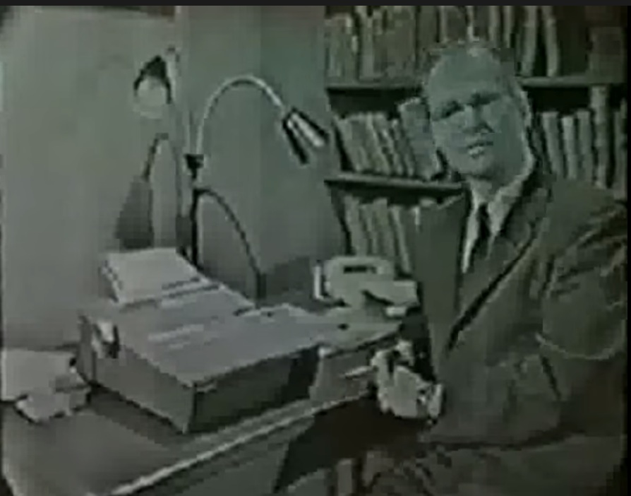 Figure 2.3.3 YouTube video/film of B.F. Skinner demonstrating his teaching machine, 1954 Click on image to see video