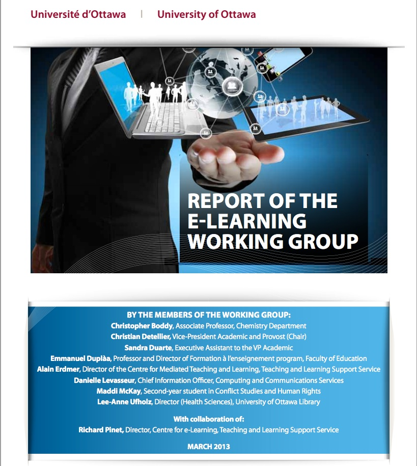 Figure 12.5 The University of Ottawa's e-learning plan